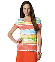 Jones New York Sport® Water Color Striped Tee