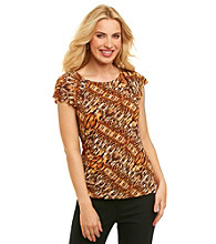 Anne Klein® Multi Animal Flutter Top