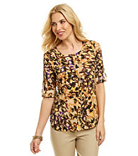 Anne Klein® Multi Camo Print Camp Shirt