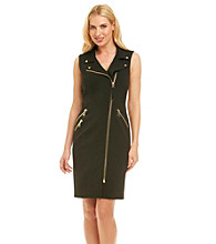 Calvin Klein Zipper Sheath Dress