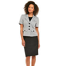 Le Suit® Tweed Jacket With Solid Skirt