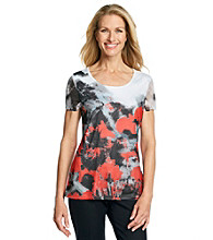 Laura Ashley® Mesh Poppy Sublimation Tee