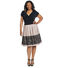 S.L. Fashions Plus Size Surplice Party Dress