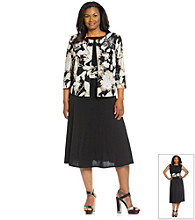 Jessica Howard® Plus Size Sequin Floral Print Jacket and Dress