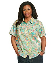 Jones New York Sport® Plus Size Two Pocket Camp Shirt