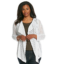 Jones New York Sport® Plus Size Open-Front Drape Cardigan