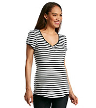 Three Seasons Maternity™ Stripe V-Neck Top