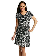 Three Seasons Maternity™ Drapeneck Belted Dress