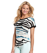 Kensie® Watercolor Stripes Tee