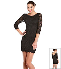 Jump® Juniors' Eyelash Lace Dress