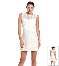 Bee Darlin Juniors' Lace Illusion Dress