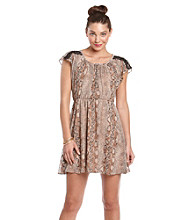 Jump® Juniors' Python Print Dress