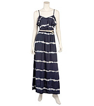 A. Byer Juniors' Belted Tie Dye Maxi Dress