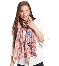 The Accessory Collective Juniors' Butterfly Print Scarf