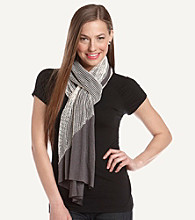 The Accessory Collective Juniors' Gauze Overlay With Sequins Scarf