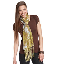 The Accessory Collective Juniors' Tie Dye Fringe Scarf