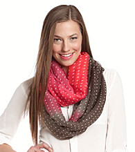 The Accessory Collective Juniors' Polka Dot Ombre Scarf
