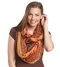 The Accessory Collective Juniors' Animal Print Scarf