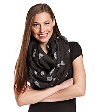 The Accessory Collective Juniors' Owl Print Scarf