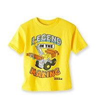 Tonka® Boys' 2T-7 Yellow Short Sleeve Legend in the Making Tee