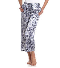 Chanteuse® Blue Multi Satin Crop Pants - Lily Pond