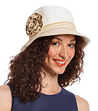 August Accessories® Bright Striped Cloche