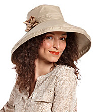 August Accessories® Large Kettle Hat With Flower