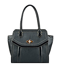 Nine West® Black Madagascar Mix Medium Tote