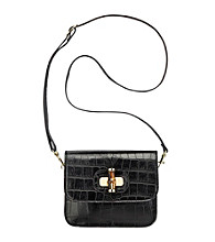 AK Anne Klein® Black Snake Charm Small Crossbody