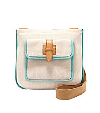 Fossil® Natural Shay Top Zip Crossbody