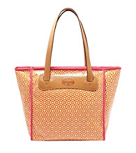 Fossil® Orange Geometric Print Key-Per Shopper