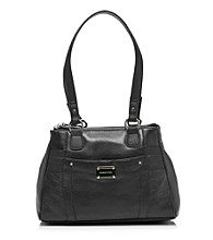 Stone Mountain® Black Greenwich Satchel