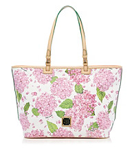 Dooney & Bourke® Pink and White Hydrangea Leisure Shopper