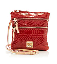 Dooney & Bourke® North/South Triple Zip Snakeskin Crossbody