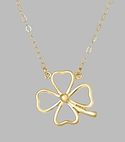 Clover Pendant in 10K Yellow Gold