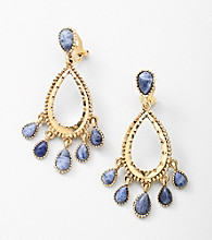 Lauren Ralph Lauren Goldtone/Blue Clip Earrings