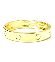 L&J Accessories Polished Gold Bangle