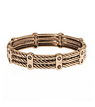 L&J Accessories Gold Rope Textured Bangle