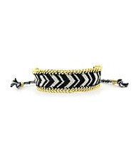 Vince Camuto™ Black and White Friendship Bracelet