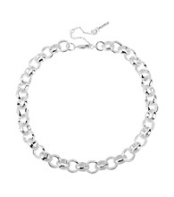 Kenneth Cole® Silvertone Circle Link Necklace