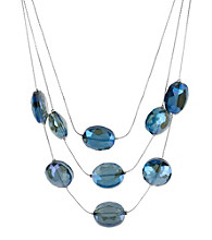 Kenneth Cole® Topaz Faceted Bead Illusion Necklace