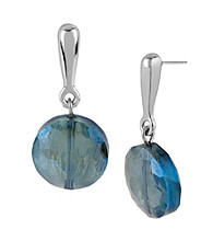 Kenneth Cole® Topaz Faceted Bead Drop Earrings