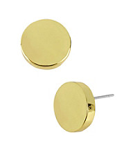 Kenneth Cole® Goldtone Round Stud Earrings
