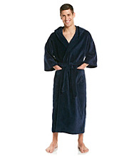 Majestic Men's Big & Tall Terry Velour Maxi Hooded Robe