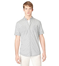 Calvin Klein Jeans® Men's Misty White Short Sleeve Rarity Plaid Woven