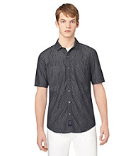 Calvin Klein Jeans® Men's Short Sleeve Dark Rinse Denim Dot Woven