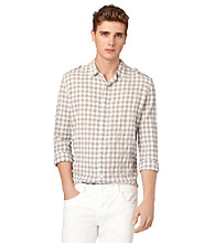 Calvin Klein Jeans® Men's Chrome Long Sleeve Scope Check Woven