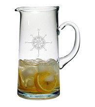 Susquehanna Glass Compass Rose Tankard Pitcher