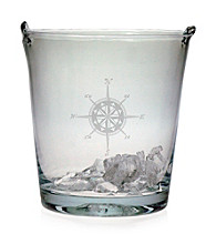 Susquehanna Glass Compass Rose Ice Bucket