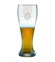 Susquehanna Glass Compass Rose Set of 4 Weizenbier Pilsner Glasses